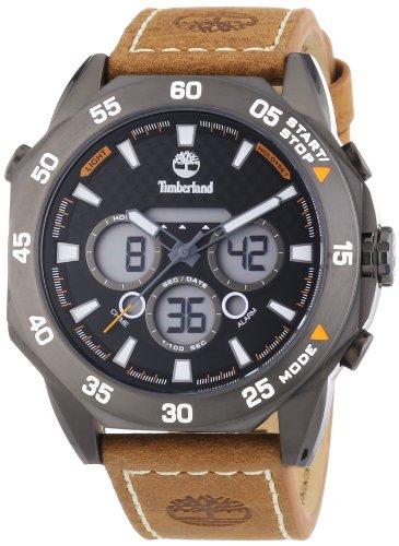Timberland Thorndike Chrono - Reloj de cuarzo para hombre, con correa de cuero, color marrón