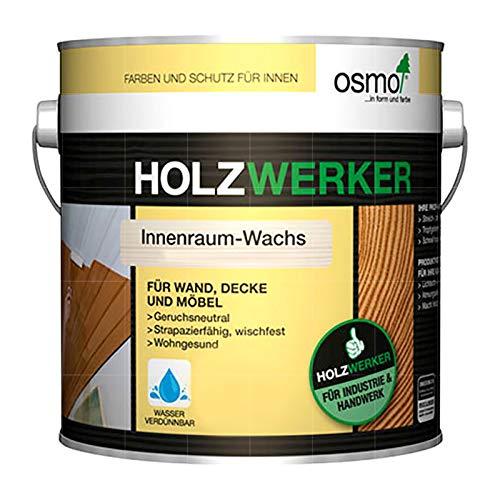 OSMO HOLZWERKER INNENRAUM-WACHS - 2.5 LTR (H-7393 WEISS TRANSPARENT)