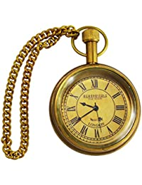 Handmade Beautiful Golden Color Aeropostal London Designed Pocket Watch With Long Chain