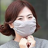 Xiumin Mund Maske,Herbst- und Winterfrauen, die verdicken, um Kälte zu erhöhen und warme Baumwollmaske zu halten, lieben Kaschmirsilber