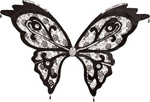 kel Fee Kostüm Junggesellinenabschied Schmetterlingsflügel Durchsichtig Schwarze Spitze (Schwarze Fee Kostüme)