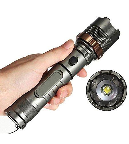 Tasche Taschenlampe 1000 Lumen Taktische Handlampe Zoombar einstellbarem Fokus 5 Modis für Campen, Wandern, Fahrradfahren und Notfälle--Batterie nicht enthalten (Essential Gear-taschenlampe)