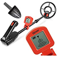Viewee Lightweight Metal Detector with Waterproof Search Coil and LCD Display Suitable for Junior and Beginner with Shovel as Family Leisure