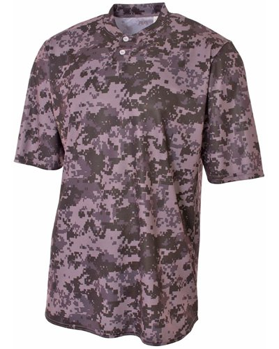 Youth Camo 2-Button Henley Shirt GRAPHITE XL (Camo Henley Shirt)