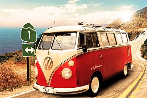GB eye LTD, VW Camper, Route One, Maxi Poster, 61 x 91,5 cm