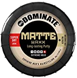 Dominate Matte Waxx Produits de Salon Cire Coiffante avec de la Kératine, Fixation Forte avec Effet Sec Naturel, 85g