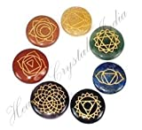 Healing Crystals India®: Special Natural Gemstone 7 Chakra Srt Reiki Energy Charged Set Including Beautifully Gift Wrapped (Round)