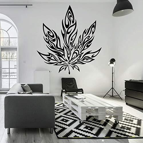 Preisvergleich Produktbild woyaofal Vinyl Wandaufkleber Ahornblatt Tribal Tattoo Wand Applique Wandkunst Aufkleber Home Wohnzimmer Schlafzimmer Dekoration 57x62cm