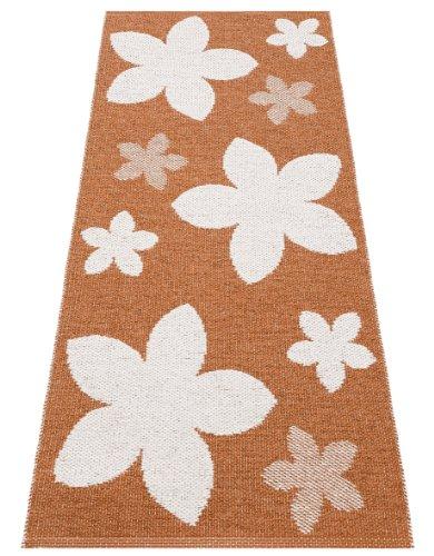 Horredsmattan Kunstfaser Outdoor Teppich für Haus und Garten, waschbar. Design FLOWER rost 150x250 cm