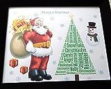 Personalizzato Santa & Albero Word Art, bambini 1, ragazzo, ragazza o regalo di Natale generale. Presentato in 8 'x 10' di vetro frontale della montatura, bello regalo unico e ricordo per ogni bambino, o giovani a cuore, Riduzione dell'affrancatura / trasporto su tutte le destinazioni