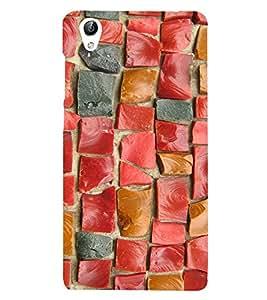 Rectangular Tiles Pattern 3D Hard Polycarbonate Designer Back Case Cover for vivo Y51 :: VivoY51L