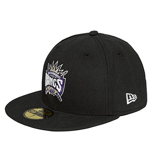 New Era 59fifty NBA Sacramento Kings Black 5950 Fitted Hat Cap