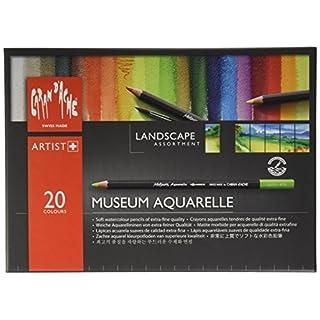 Caran D'Ache Museum Aquarelle Landscape Pencils - Assorted Colours (Pack of 20)
