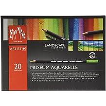 Lápices Caran D'Ache Museo Paisaje Aquarelle - Lápices de colores (Pack de 24)