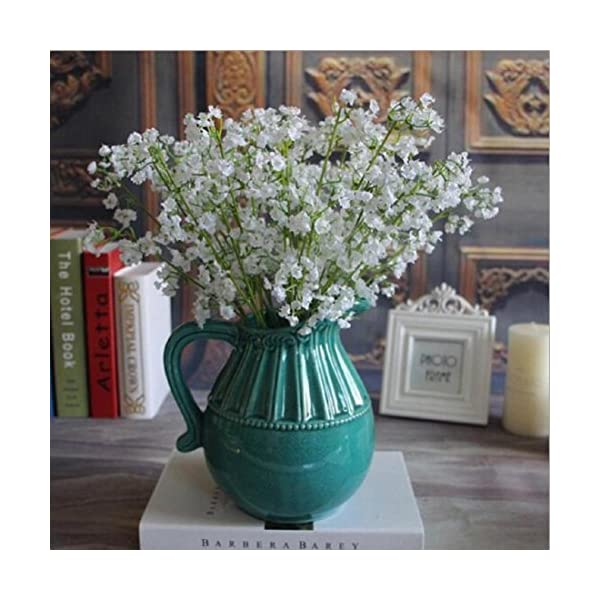 Hogar y Cocina Flores Artificiales decoración ? Flor Artificial de Gypsophila Ramo de Novia de Seda Falsa Decoración del…