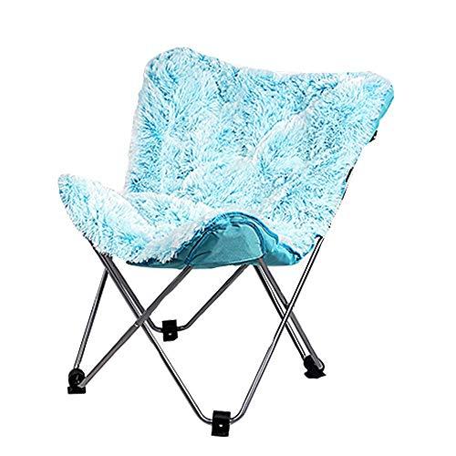 Xiao Jian- Chaise pliante-papillon Chaise de loisirs simple Chaise pliante Lazy Couch Chaise Chaise arrière Chaise inclinable Moon (Couleur : B)