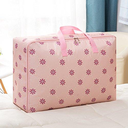 Kleiderbehälter mit haltbaren Griffen, ideal für Kleidung, Decken, Schränke, Schlafzimmer, Tröster, (4 Einheitsgröße) Pulversonne 55x33x20cm - 2 Stück Tröster