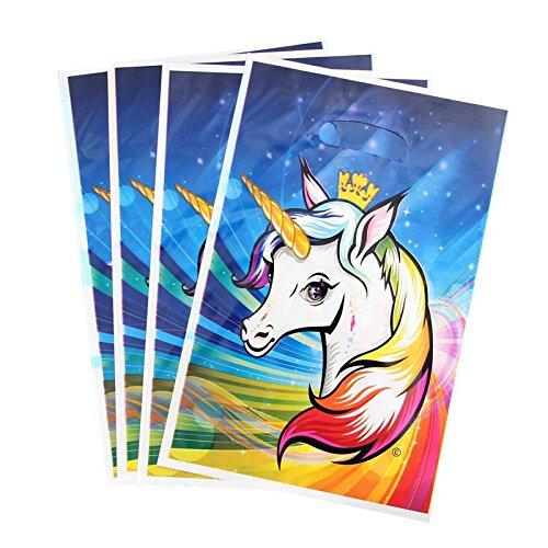 40 unids Bolsas Unicornio Princesa para invitad@s Fiesta,chuches Recuerdos Invitaciones a cumples, Detalle Boda niños, Envolver Regalos o Detalles, escaparates Manualidades 25 x 16.5 cm de CHIPHOME
