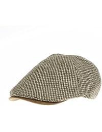 WITHMOONS Sombreros gorras Boinas Bombines Tweed Newsboy Hat faux leather brim Flat Cap SL3019