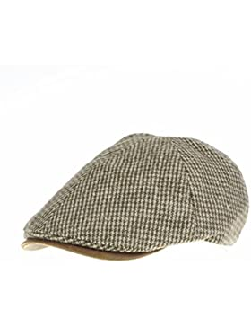 WITHMOONS Coppola Cappello Irish Gatsby Tweed Newsboy Hat faux leather brim Flat Cap SL3019