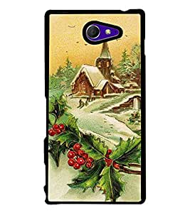 HiFi High Glossy Designer Phone Back Case Cover Sony Xperia M2 Dual :: Sony Xperia M2 Dual D2302 ( Hill Station Oil Paint Look )