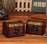 Koojawind Caja De JoyeríA, Caja Hecha A Mano De Madera Vintage con Mini Cerradura De Metal para Guardar El Cofre del Tesoro, Organizador De Maquillaje, Caja De Madera,...