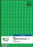 3er Packung Sigel KG429 Kassenbuch EDV 2fach, Steuerschiene 300, A4, 2x50 Blatt mit Blaupapier (3 Stück)