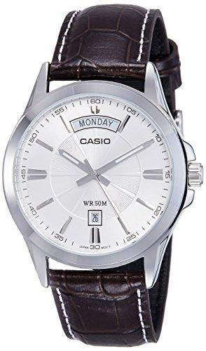 51cAcHe93iL - Casio Enticer Silver Mens MTP 1381L 7AVDF A845 watch