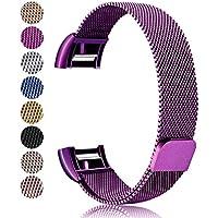 Für Fitbit Charge 2 Armband, Mornex Milanese Edelstahl Ersatz Klassisch Smart Watch Armbänder, stylishe Zubehörkollektion