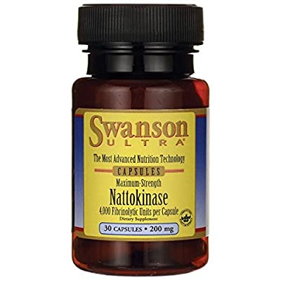 Swanson Ultra Maximum Strength Nattokinase (200mg, 30 Capsules)