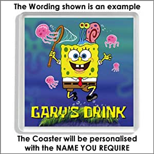 Personalised SPONGEBOB SQUAREPANTS Acrylic Drinks Coaster - An Ideal Gift