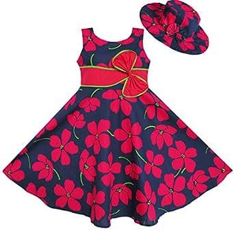 Sunny fashion vestito floreale bambina rosso amazon for Amazon abbigliamento bambina