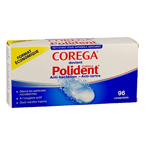 Polident Corega Anti-Bactérien - Anti-Tartre 96 Comprimés