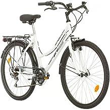 Probike 26 City ZOLL FAHRRAD 18-Gang urbane Cityräder For Heren, Damen, Unisex weiß 455mm