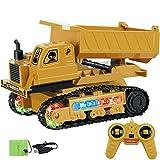 Jamicy Ferngesteuertes Auto, Bagger 1:24 RC 4-Kanal-Traktor-LKW-Bagger-Auto 2,4G Fernsteuerungstechnik Fahrzeug-Buggy-Spielzeug (C)