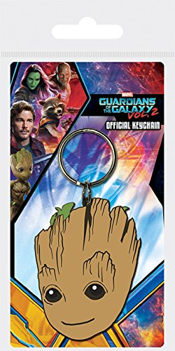 Marvel Comics Guardians of The Galaxy Vol. 2 - Baby Groot, Schlüsselanhänger aus Gummi, 4.5 x 6 cm