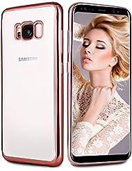 Coque Galaxy S8, Infreecs Housse Silicone Flexible gel TPU Bumper [Absorption de Choc] Résistant aux rayures Très Légère Coque pour Samsung Galaxy S8, Rose