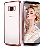Samsung Galaxy S8 Case, Infreecs Galaxy S8 Bumper Case Cover Soft Gel Silicone TPU [Metal Electroplating Technology] shockproof Anti-Scratch cover Phone Case for Galaxy S8 - Rose Gold