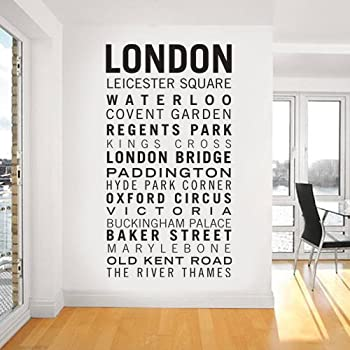 Subway Map Wall Art Wall Art Stickers Wall Decal Huge Underground Tube Map.Large London Tube Sign Removable Wall Sticker Large Underground Sign