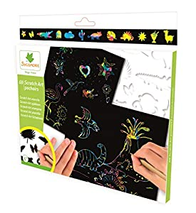 Darpeje Scratch Art Plantillas Sycomore Faujas (CRE44021), Multicolor (1)