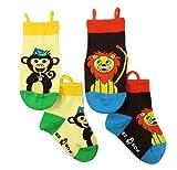 NeedyBee Monkey and Lion Ez Sox Baby Boy...