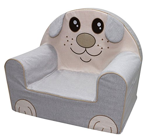Bubaba - Kindersessel in 16 Motiven, EU Produkt, formstabiler Schaumsoff - extra leicht nur 1kg, Model:Funny Puppy