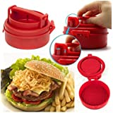 Glive's Hamburger Patty Maker Meat Press Machine Kitchen Cookware Burger Mold Presses Mould Tools Patty Meat Pie Molds Grill BBQ