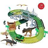 Autorennbahn Off-Road-Rennwagen Set Geländewagen Rennbahn Spielzeug Kinder ab 3 Jahre Geschenk inkl. Auto / 2 Meter lang Rennbahn mit Brücke Bausätze / Dinosaurier u.s.w.