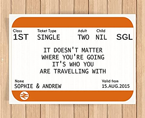 Personalised Presents Gifts For Brother Sister Best Friend Son Daughter Birthday Christmas Thanksgiving Bus Train Life Ticket Buss Pass Prints Posters Wall Art New Housewarming Bedroom Home