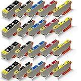 20x kompatible Tintenpatronen für Epson Expression Premium XP-620 XP-625 XP-700 XP-710 XP-720 XP-800 XP-810 XP-820 T-2621 T-2631 T-2632 T-2633 T-2634 Black Photoblack Cyan Magenta Yellow - Office Pro Serie