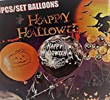 50 Halloween Luft-Ballons-Helium geeignet-Grusel-Horror-Party-Deko-Hexen-EU Ware-vom Sachsen-Versand