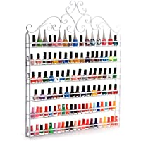 YUDA - Estantería de Pared para esmaltes de uñas, 6 estantes, para 120 Botellas, Color Blanco