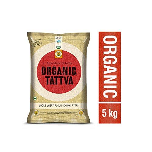 Organic Tattva Wheat Flour Chapatti Atta, 5kg Certified By USDA Test