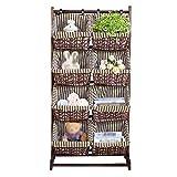 Floored Soggiorno Rack di Immagazzinaggio del Rattan Carrello Domestici Giocattoli Multi-Tier Hanging Basket Magazine Rack di Economia di Spazio (Colore : Style 2)